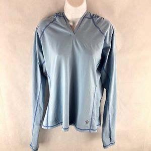 Mountain Hardwear Blue Sports Hooded Sweatshirt L